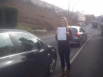 Amy Hill passed with XLR8 Wales Driving School