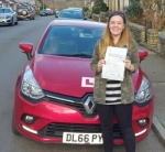 Amy Idowu passed with XLR8 Wales Driving School