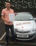 Anthony Thompson passed with XLR8 Wales Driving School