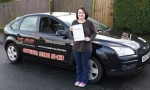Ashleigh Axiak passed with XLR8 Wales Driving School