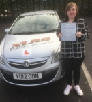 Becky O'Shea passed with XLR8 Wales Driving School