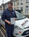 Ben Coles passed with XLR8 Wales Driving School