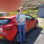 Benjamin Beynon passed with XLR8 Wales Driving School