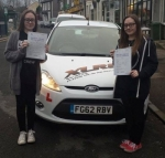 Beth & Meg Williams passed with XLR8 Wales Driving School