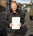 Brett Johnstone passed with XLR8 Wales Driving School