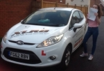 Celyn Price passed with XLR8 Wales Driving School