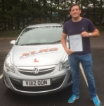 Chris Davies passed with XLR8 Wales Driving School