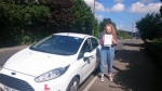 Claudia Zunn passed with XLR8 Wales Driving School