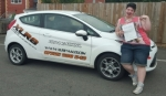Coral Evans passed with XLR8 Wales Driving School