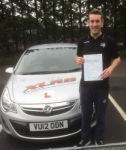 Corey Evans passed with XLR8 Wales Driving School