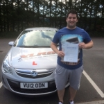 Craig Morgan passed with XLR8 Wales Driving School