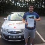 Craig Morgan passed with XLR8 Wales Driving School