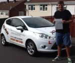 Curtis passed with XLR8 Wales Driving School
