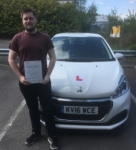 Daniel Hughes passed with XLR8 Wales Driving School