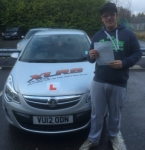 Ethan Lewis passed with XLR8 Wales Driving School