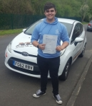 George Denman passed with XLR8 Wales Driving School