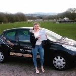 Geri McNamara passed with XLR8 Wales Driving School