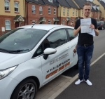 James Jenkins passed with XLR8 Wales Driving School