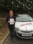 Jamie Park passed with XLR8 Wales Driving School