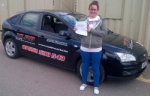 Jenna passed with XLR8 Wales Driving School