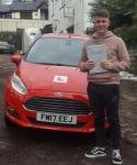 Joe Stalder passed with XLR8 Wales Driving School