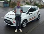Jordan Richards passed with XLR8 Wales Driving School