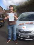 Josh King passed with XLR8 Wales Driving School