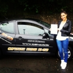 Kate Thomas passed with XLR8 Wales Driving School