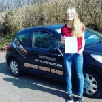 Katie Hale passed with XLR8 Wales Driving School