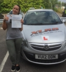 Kaylee Bird passed with XLR8 Wales Driving School