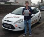 Kieran Williams passed with XLR8 Wales Driving School