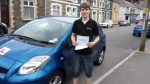 Kieron Russ passed with XLR8 Wales Driving School