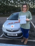Kristie Olden passed with XLR8 Wales Driving School