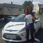 Lauran Jones passed with XLR8 Wales Driving School