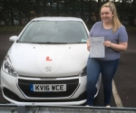 Lauren Bryant passed with XLR8 Wales Driving School