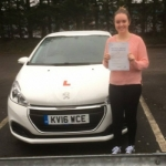 Lauren Davies passed with XLR8 Wales Driving School
