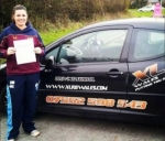 Lottie passed with XLR8 Wales Driving School