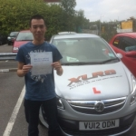 Luis Shan passed with XLR8 Wales Driving School