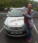Lydia Powell passed with XLR8 Wales Driving School