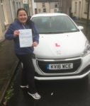 Mal Zajac passed with XLR8 Wales Driving School