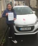 Mal Zajac passed with XLR8 Wales Driving School