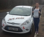 Meg Matthews passed with XLR8 Wales Driving School