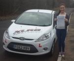 Meg Matthews passed with XLR8 Wales Driving School