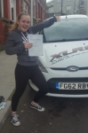 Megan Andrews passed with XLR8 Wales Driving School