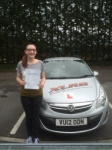 Melissa Watkins passed with XLR8 Wales Driving School