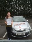 Melissa Watkins passed with XLR8 Wales Driving School