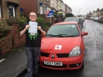 Morgan Private passed with XLR8 Wales Driving School