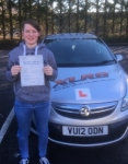 Morgan Rogers passed with XLR8 Wales Driving School