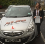Morgan Williams passed with XLR8 Wales Driving School