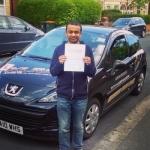 Mujahid passed with XLR8 Wales Driving School